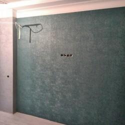 Оклейка стен в кухне