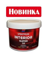 Водоэмульсионная супербелая краска  Spektrum Interior 02 Super, 10л