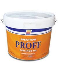 Матовая краска для потолка Spektrum Proff 02, 10 л