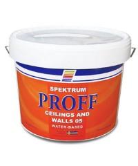 Матовая краска для потолка и стен Spektrum Proff 05, 10 л
